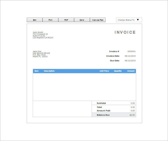 Receipt Template Free Printable Word Excel AI PDF Format - Free template invoices online thrift store furniture