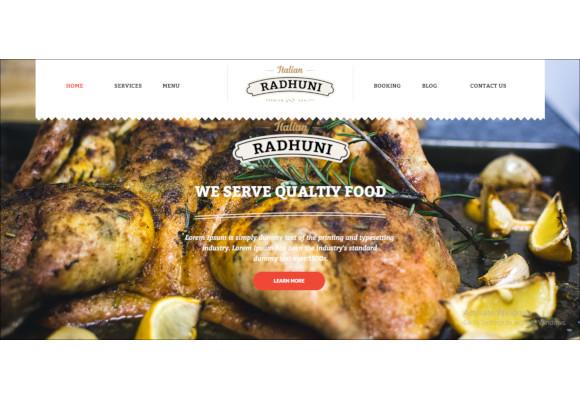 italian food restaurant wordpress website template