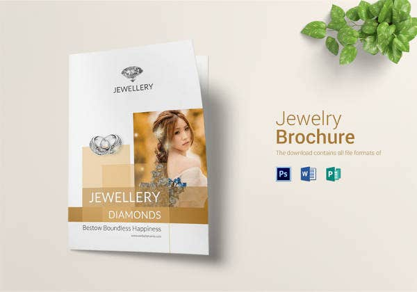 jewelry bi fold brochure template