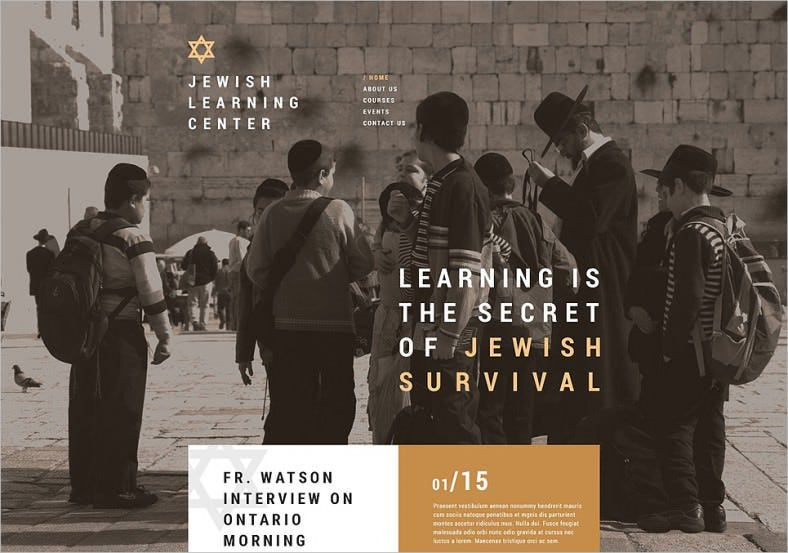 jewish school website template 788x553