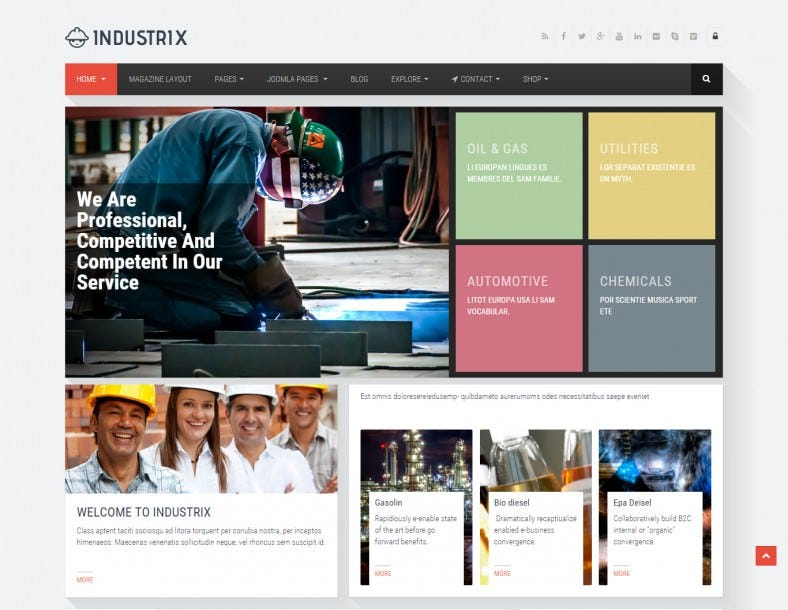 Joomla Responsive Industrial Business Template