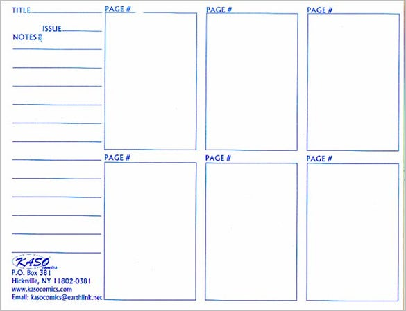 kaso comic storyboard template sample