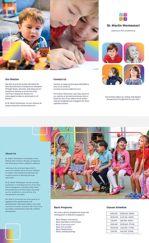 ordinaire Kindergarten Brochure Template