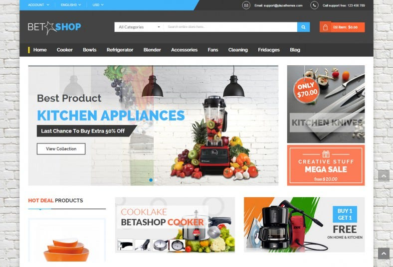 Kitchen Appliances Store Magento Theme