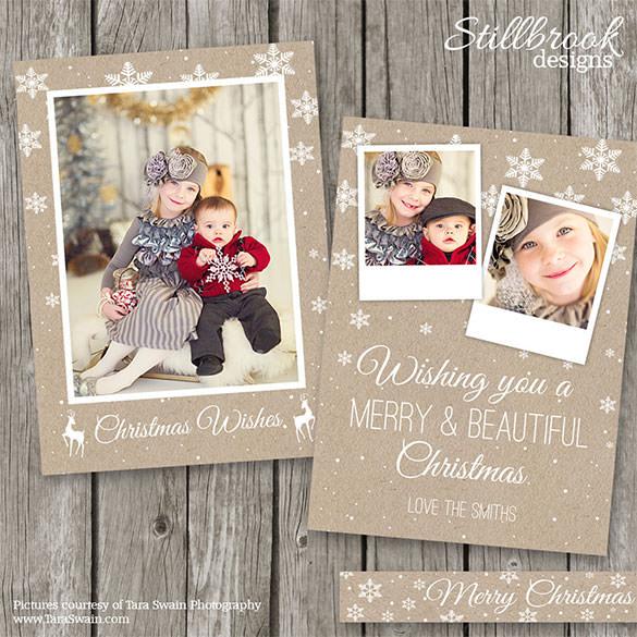 kraft photo holiday card template 24