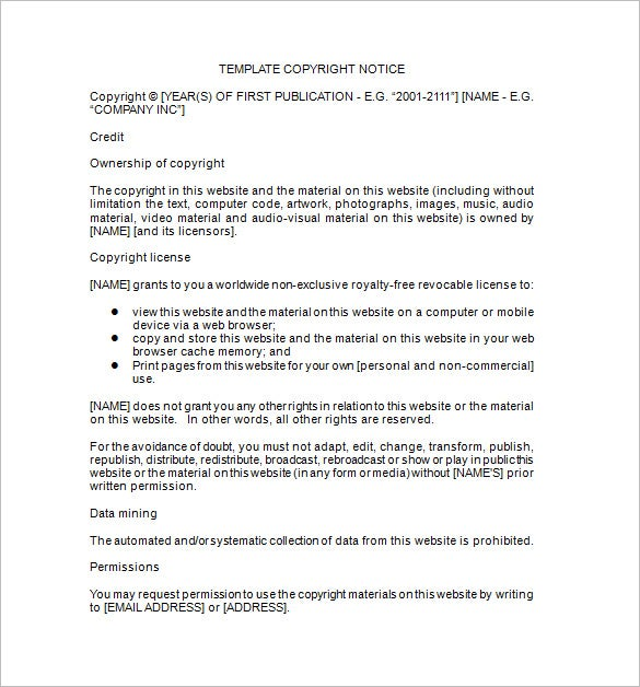 copyright notice format - Asafon.ggec.co