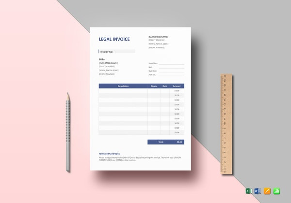 Legal Invoice Template  Attorney Invoice Template