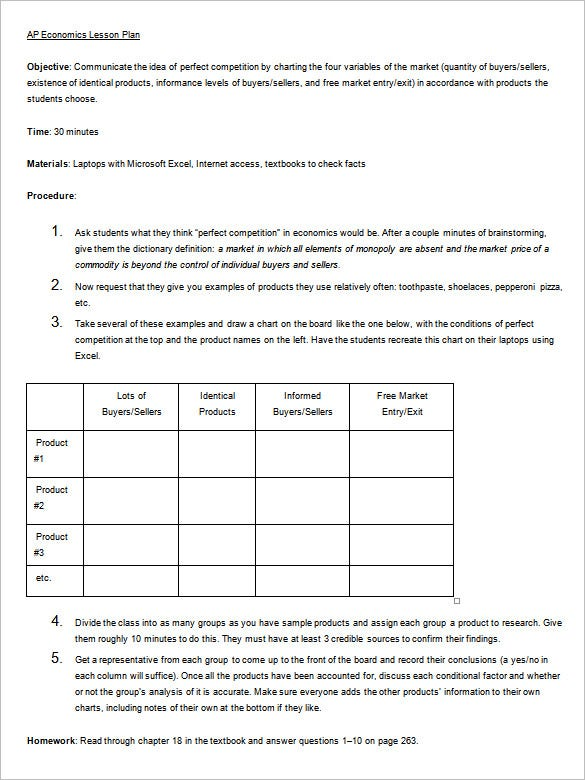 lesson plan outline template for preschool