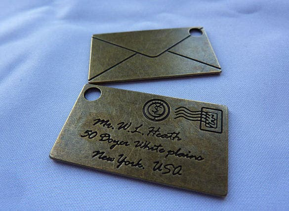 letter on bronze envelope template download