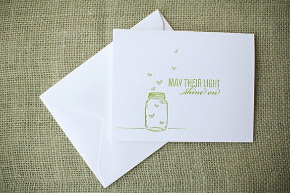 letterpress sympathy card template download