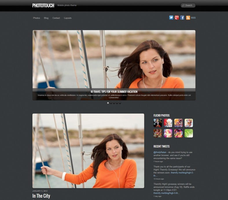 Lightbox Integrated Wp Template for Photo Showcase