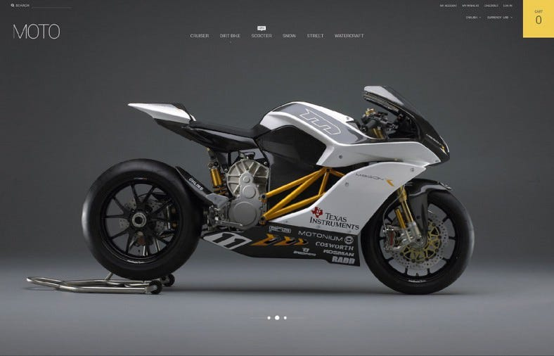 ListGrid View Magento Theme for Motorsports Store
