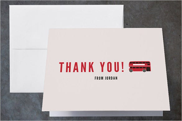 london calling childrens pirthday party thank you card