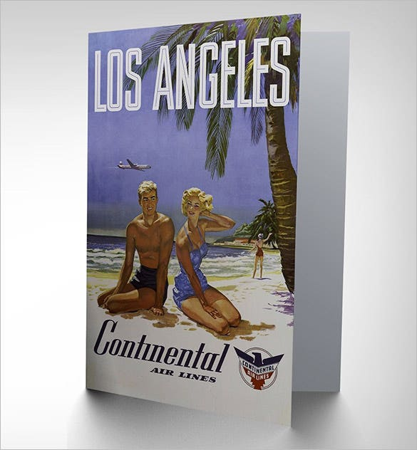 los angles travel thank you card design