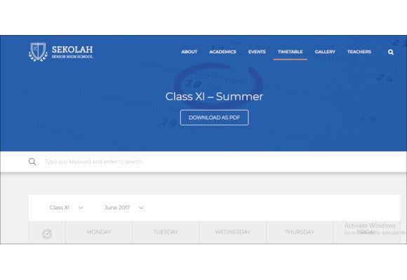 lovable high school calendar wordpress theme