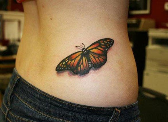 lovely 3d butterfly tattoo design1