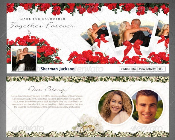 lovers facebook timeline cover psd template download 4