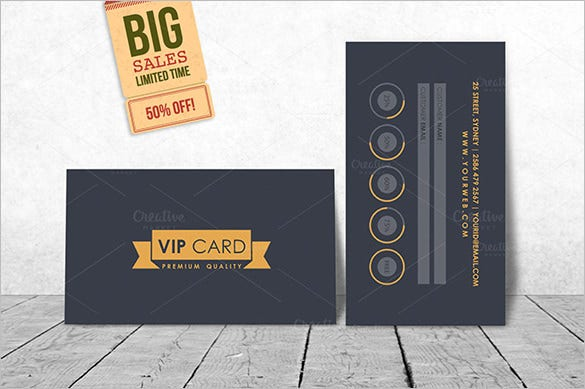 Loyalty Membership Card Template U2013 $4  Membership Cards Templates