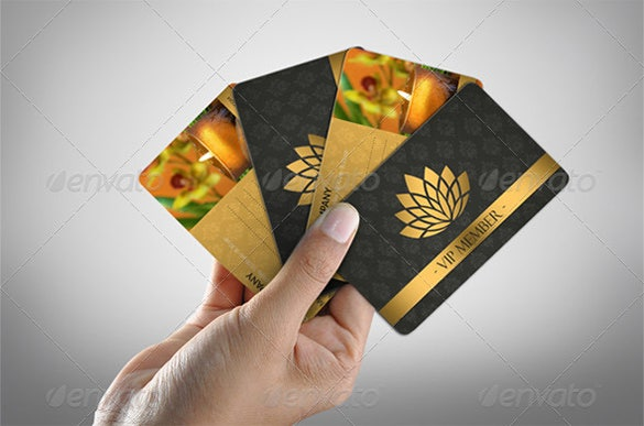 luxury spa vip membership card psd template 6