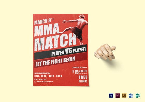 mma-match-flyer-template