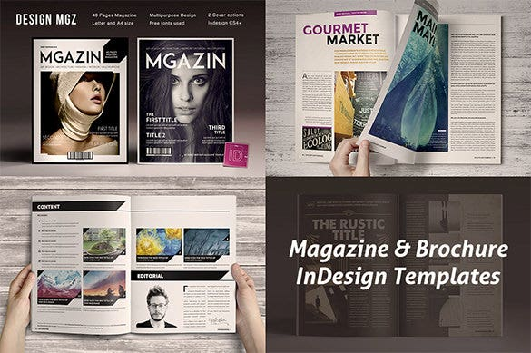 magazine brocher in design template
