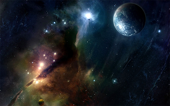 magnificent space background free download