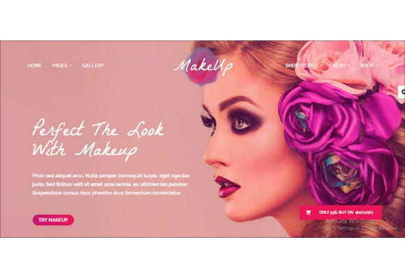 makeup beauty wordpress theme