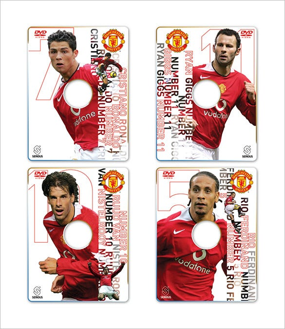manchester united rom trading card template free download