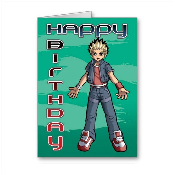 manga dude birthday greeting pokemon card