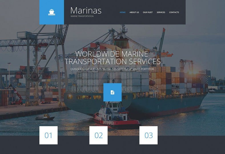 maritime responsive website template 788x540