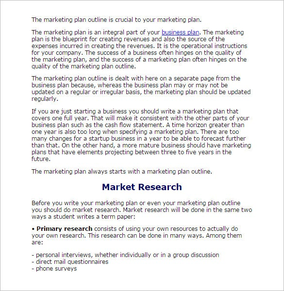 Research outline template 10 free sample example format market research outline template malvernweather
