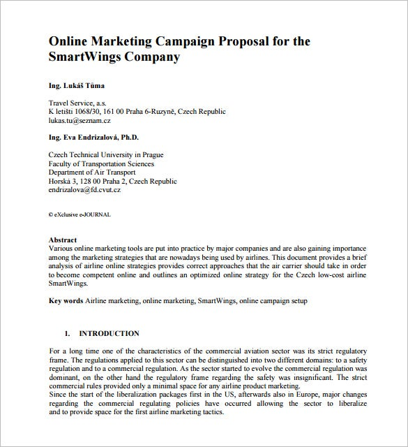 Marketing proposal template 25 free sample example format example of a marketing campaign proposal pronofoot35fo Choice Image