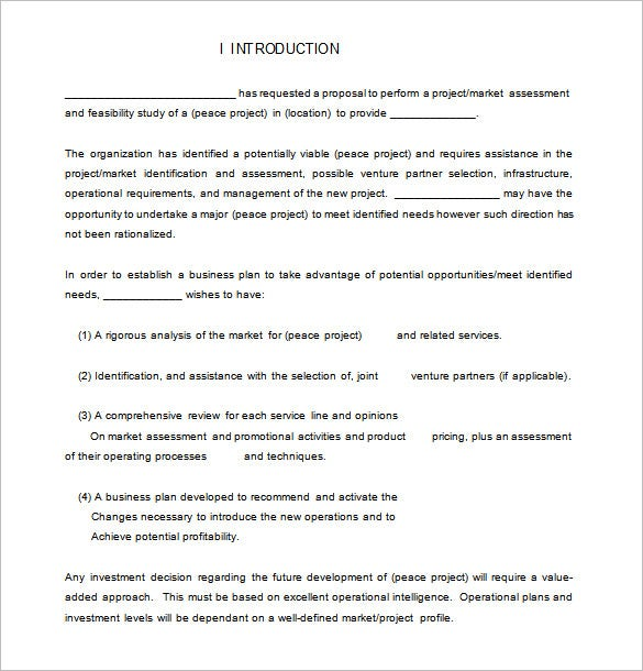 marketing consulting proposal template doc
