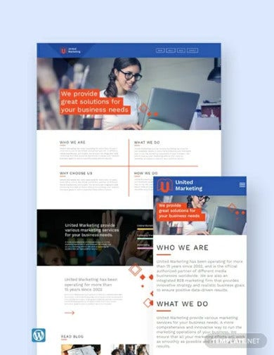 marketing firm wordpress theme template