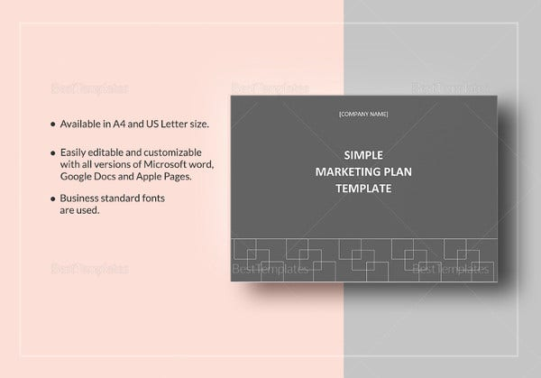 marketing plan template in word