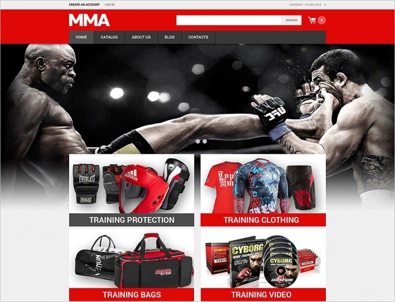 Martial Arts & Sports Store VirtueMart Template