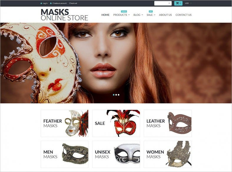Masks Online Store Shopify Theme