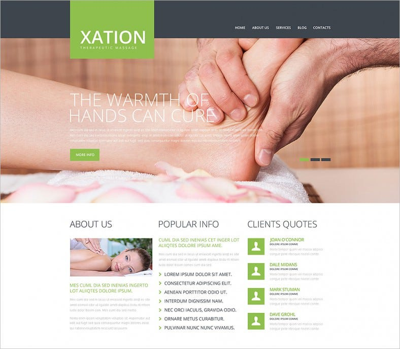 Massage Therapist Responsive Website Template