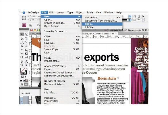 master multi doc book function in indesign