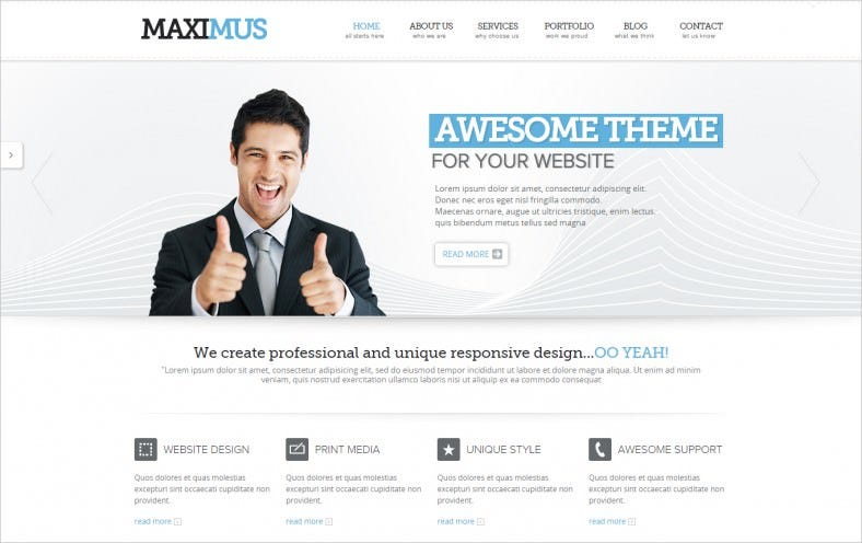 Maximus -Responsive Multi-Purpose Website Template