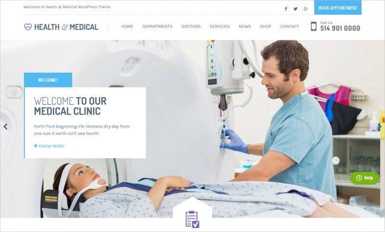 medical responsive wordpress template 788x475