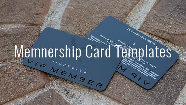 25 Membership Card Templates Word Psd Ai Publisher Indesign Free Premium Templates