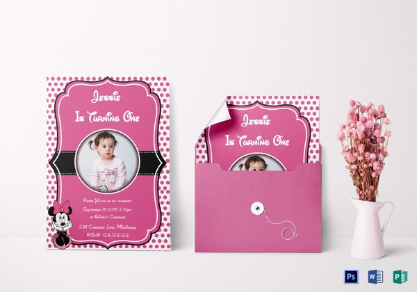 28+ Minnie Mouse Invitation Template - Free Sample, Example, Format ...