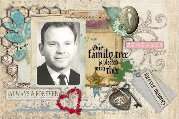memorial death obituary card template download