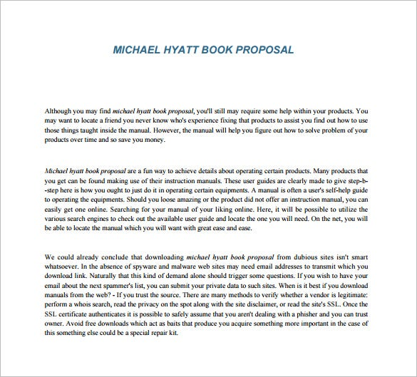 Book Proposal Template – 12+ Free Sample, Example, Format Download