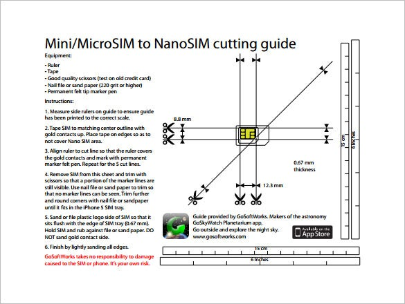 microsim card to nanosim cutting guide