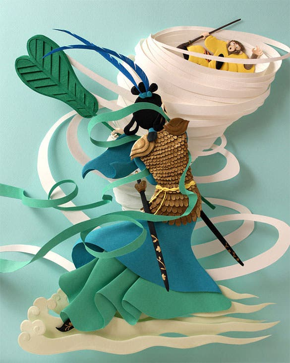 mindblowing paper art template