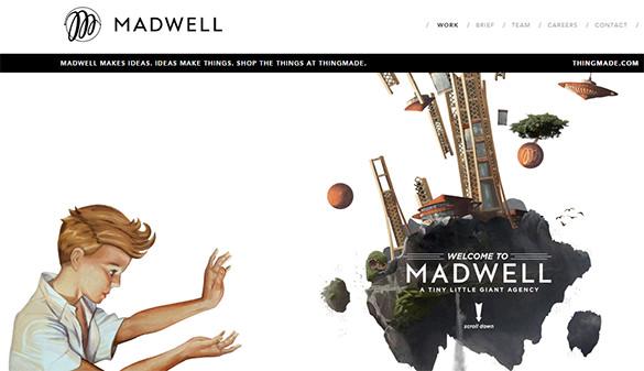 mindblowing 3d design website example