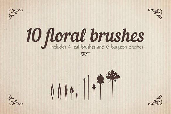 mindblowing floral brushes illustrator