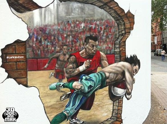 mindblowing football 3d abstract painting